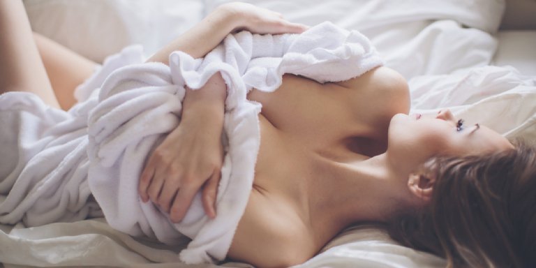 sexy woman in bed